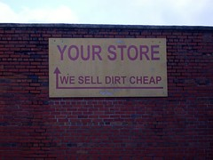 Cheap dirt (Gerry Dincher) Tags: northcarolina dirt cheap redsprings robesoncounty yourstore