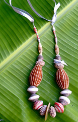 necklace (Mzuri beads) Tags: bananaleaf barkcloth cowhorn paperbeads ethicalfashion ribbonnecklace recycledjewelry fairtradejewelry naturalbeads fairtradebeads ugandanbeads ecojewellery ethicalbeads mzuribeads ugandanjewelry kirstiemaclean