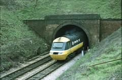 IC125 HST emerges from Blackboy Tunnel, Exeter (philwakely) Tags: train diesel tail railway trains steam exeter emu locomotive railways britishrail hst britishrailways dmu class43 intercity125 exetercentral multipleunit
