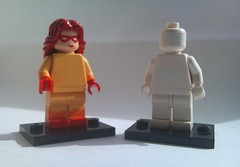 Firestar and Iceman (From Spiderman and his amazing friends) (burakki62) Tags: lego spiderman iceman minifig custom firestar