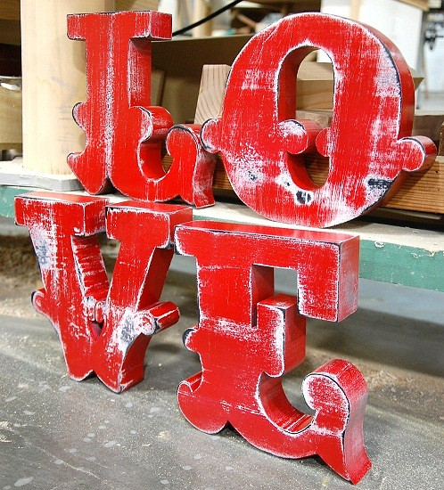 Red Love Sign by RobinsandPearls via Etsy