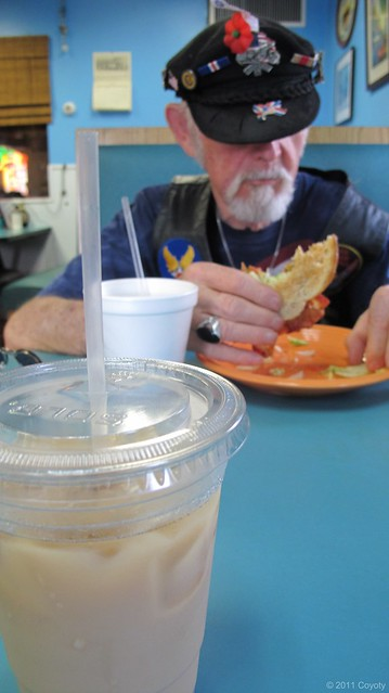 Iced coffee with Dad