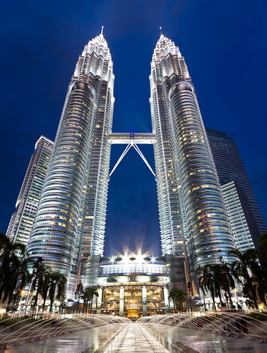 Twin Tower, Blue Hour