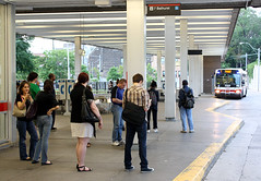 Waiting for the 7 (MrDanMofo) Tags: toronto bus station subway waiting ttc passengers bathurst annex torontotransitcommission mrdanmofo