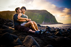 james + bev (James Rubio) Tags: sunset love hawaii engagement kiss waimea bigisland mock vally waipio waipiovalley hawaiianstylecafe