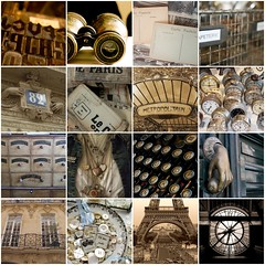 Tout Paris (Bella Luna Creative) Tags: paris france typewriter vintage keys antique buttons postcard eiffeltower eiffel binoculars metropolitain necklaces mannekin museedeorsay parissign