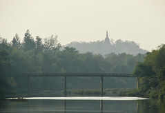 Chedi in the distance