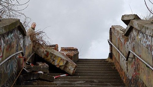 Eingestürzte Treppe am Ostkreuz - Foto: Henning Onken