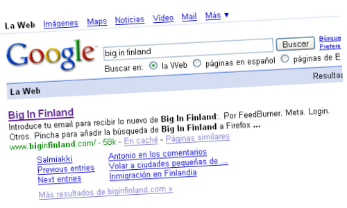 Sitelinks de Big In Finland