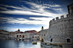 Dubrovnik Old City Port (Tino Stanicic) Tags: blue sky port photoshop nikon skies d70s croatia nikond70s nikkor polarizer dubrovnik hdr oldcity vr polarizing 18200mm photomatix f3556g tonemapped nd8 18200mmf3556gvr 3exp neturaldensity