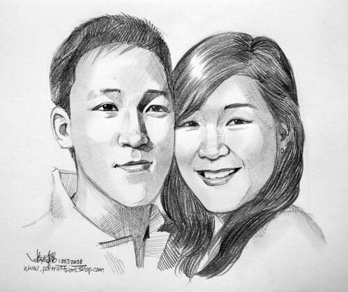 couple portraits pencil 100308