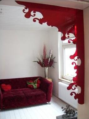 Indoorframe Blume Rot