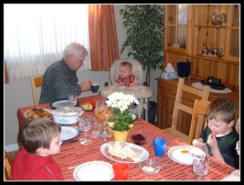 Ukrainian Easter dinner