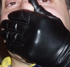 fem07 (Glovemaniac) Tags: girl female leathergloves handsmother holdingbreathsuffocation