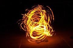 Fire Poi (J-Fish) Tags: camp night fire action performance spinning poi slowshutter firepoi z612 kodakz612 pfogold