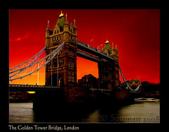 The Burning Twilight & Tower Bridge (Soumen Chatterjee) Tags: uk london towerbridge canon bravo unitedkingdom twillight fpc bouncingball worldtraveller megashot theperfectphotographer pancry hccity postcardphotography