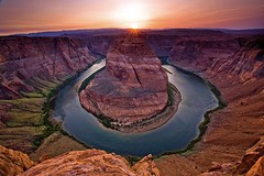 Horseshoe Bend Sunset, Page Arizona (Stephen Oachs (ApertureAcademy.com)) Tags: sunset arizona river wideangle canyon hwy coloradoriver hwy89 naturesfinest horseshoebend pagearizona blueribbonwinner supershot good1 mywinners anawesomeshot aplusphoto betterthangood stephenoachs