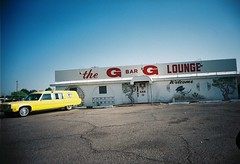 G Bar G Lounge (kevin dooley) Tags: favorite film beautiful yellow bar analog 35mm wow interesting fantastic lomo lomography flickr pretty slim shot very good g gorgeous awesome parking lounge wide lot award driveby superior super best packers most winner stunning excellent greenbay much incredible viv vivitar ultra extra hearse breathtaking exciting phenomenal vivitarultrawideandslim vuws