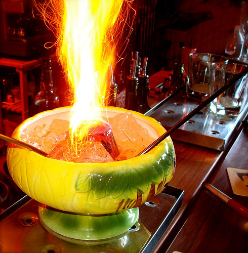 flaming drinks