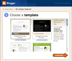 Blogger: Choose a template