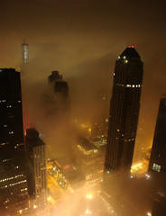 Foggy Chicago @ Chicago & Michigan Ave. (doug.siefken) Tags: city urban chicago art rain weather fog skyline night buildings painting geotagged lights photo moving still artwork flickr downtown cityscape foto arty place image searstower doug under foggy cities favorites images uptown photograph r fotos parkhyatt trumptower douglas nite stills urbanscape streeterville chicagoskyline urbanscapes johnhancockcenter jhc citscapes chicagoan siefken dougsiefken douglasrsiefken