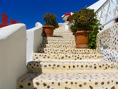 Santorini - Ia - Steps 02 (timinbrisneyland) Tags: stairs umbrella santorini greece ia