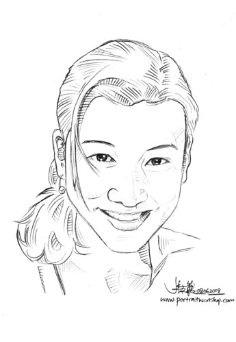 Portraits in pencil simple sketch Formul8 Nokia Book 8