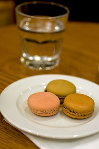 Macarons and a glass of water