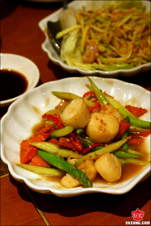 scallops stir fried with asparagus