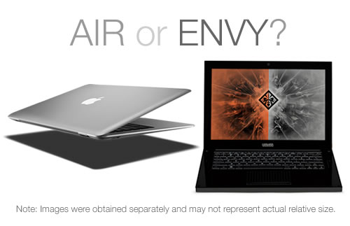 MacBook Air versus HP Voodoo Envy 133