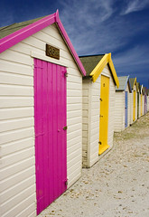 Beach Hut Series 22 (sminky_pinky100 (In and Out)) Tags: summer holiday colour beach bronze landscape seaside sunny devon beachhut omot colourphotoaward colourartawards coloursplosion thewanderlust