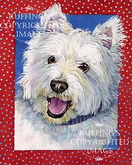 """""""Happy Westie"""" AER84 by A E Ruffing West Highland Terrier"""