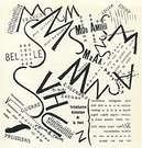 Filippo Marinetti. Tavola Parolibera. Montañas + Valles + Calles. Poema. 1919.