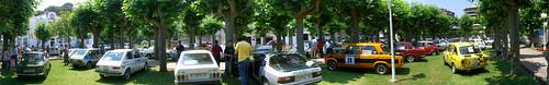 Car show panorama