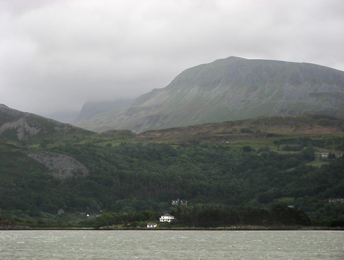 Cadair Idris in cloud, viewed from Barmouth