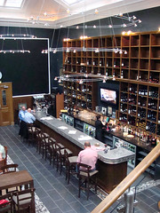 Interior of Edinburgh's Le Di-Vin wine bar