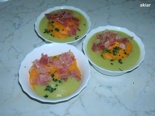 Calabacín, zanahoria, jamón y peregil x3