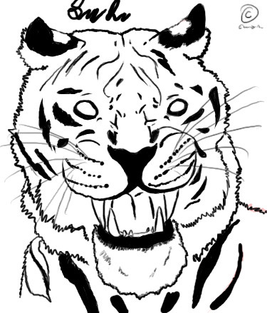 tiger tattoo designs. tiger tattoo design complete