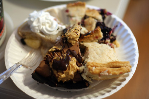 The previous two, with apple and blueberry pie.  I had to eat them all.  Or die trying.