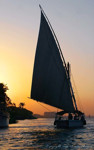 Sailing in the Nile by www.raniaelsayed.com.