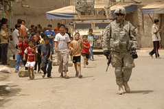 U.S. Soldiers Conduct Population Engagement Mission in Shula (DVIDSHUB) Tags: children soldier military iraq baghdad patrol cavalry shula combatcamera 2ndbrigadecombatteam 101stabaa 175cavalry dvids