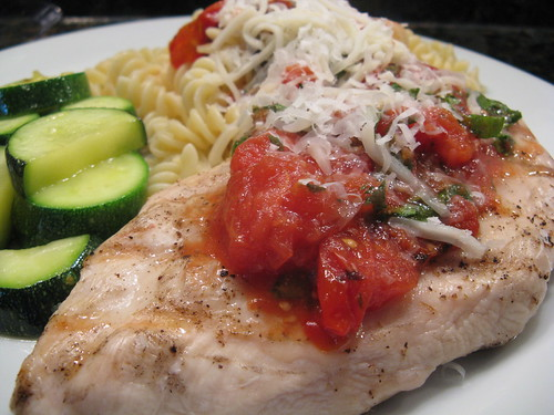 Chicken with Grilled Tomato Sauce