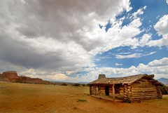 Home on the Range (benrobertsabq) Tags: red west rock us log sand cabin desert nm mesa frontier ghostranch okeefecountry