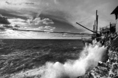 Trabucco stormy weather II (mercolino) Tags: sunset italy coast fishing tramonto foggia peschici trabucco aplusphoto montepucci