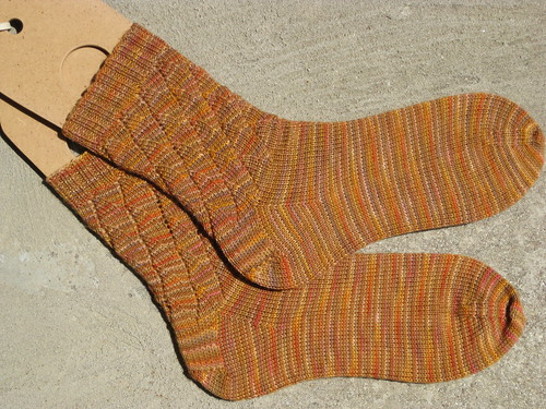 Tidal Waves Socks - Ancient Threads