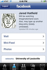 iPhone Facebook Application