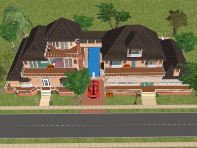 Sims 2 homes - floor plans etc