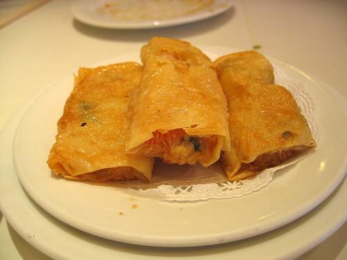 Tofu skin shrimp roll