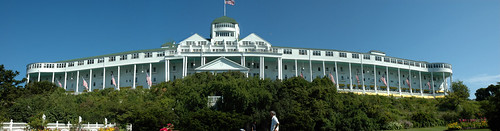 Panorama of the Grand Hotel, Mackinac Island