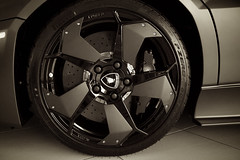 Reventon Wheel (j.hietter) Tags: auto detail art car wheel ceramic italian paint hand shot flat interior group plate tires exotic disk seats valley quilted stitching p brake carbon fiber silicon lamborghini zero stitched supercar suede matte rotor disks fibre pirelli caliper reventon